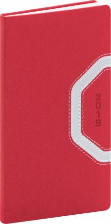 Kapesní diář Bern 2019, červený, 9 x 15,5 cm