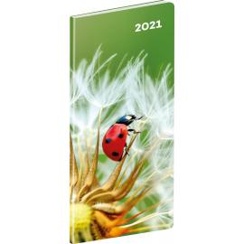 Pocket diary Ladybug, planning monthly 2021, 8 × 18 cm
