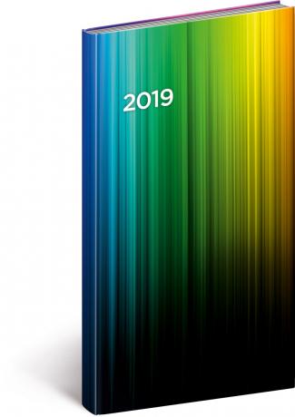 Kapesní diář Cambio 2019, barevný, 9 x 15,5 cm