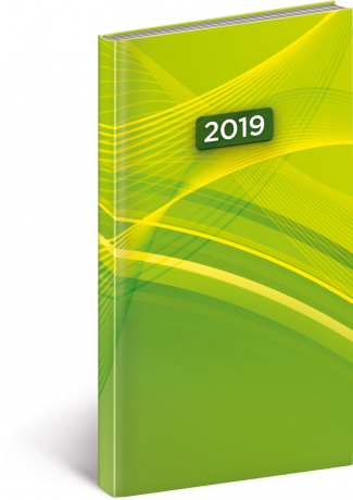 Kapesní diář Cambio 2019, zelený, 9 x 15,5 cm