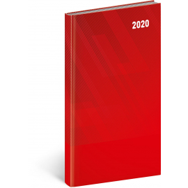 Pocket diary Cambio Classic red 2020, 9 × 15,5 cm