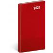 Kapesní diář Cambio Classic 2021, červený, 9 × 15,5 cm