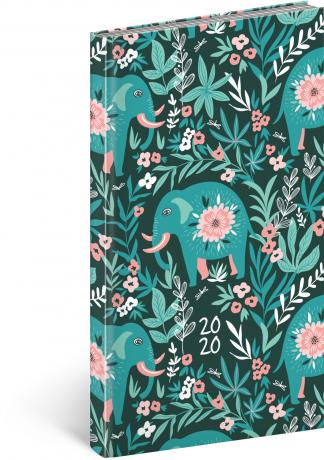 Kapesní diář Cambio Fun 2020, sloni 9 × 15,5 cm
