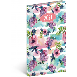Pocket diary Cambio Fun Flowers 2021, 9 × 15,5 cm