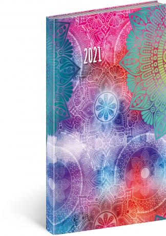 Kapesní diář Cambio Fun 2021, Mandala 9 × 15,5 cm