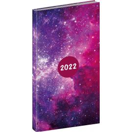Kapesní diář Cambio Fun 2022, Galaxy, 9 × 15,5 cm