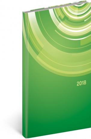 Kapesní diář Cambio – Kruhy 2018, 9 x 15,5 cm