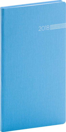 Kapesní diář Capys 2018, světle modrý, 9 x 15,5 cm