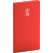 Kapesní diář Capys 2019, červený, 9 x 15,5 cm