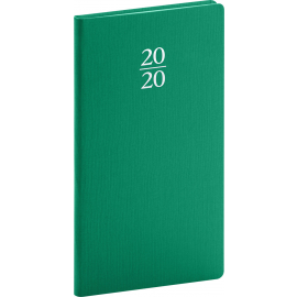 Pocket diary Capys green 2020, 9 × 15,5 cm