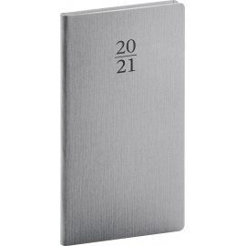 Pocket diary Capys silver 2021, 9 × 15,5 cm