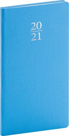 Kapesní diář Capys 2021, světle modrý, 9 × 15,5 cm