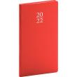 Kapesní diář Capys 2022, červený, 9 × 15,5 cm