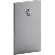 Kapesní diář Capys 2022, stříbrný, 9 × 15,5 cm