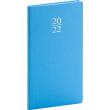 Kapesní diář Capys 2022, světle modrý, 9 × 15,5 cm
