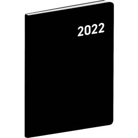 Kapesní diář Černý 2022, plánovací měsíční, 7 × 10 cm