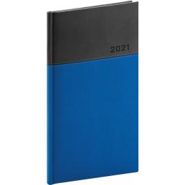 Kapesní diář Dado 2021, modročerný, 9 × 15,5 cm