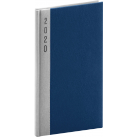 Pocket diary Dakar silver-blue 2020, 9 × 15,5 cm