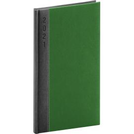Pocket diary Dakar grey-green 2021, 9 × 15,5 cm