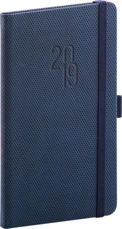 Kapesní diář Diamante 2019, modrý, 9 x 15,5 cm