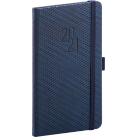 Pocket diary Diamante blue 2021, 9 × 15,5 cm