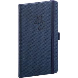 Kapesní diář Diamante 2022, modrý, 9 × 15,5 cm