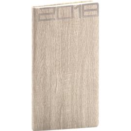 Kapesní diář Forest 2018, krémový, 9 x 15,5 cm