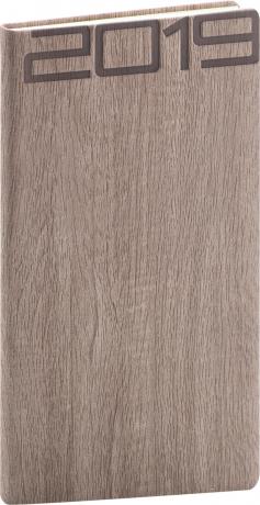 Kapesní diář Forest 2019, hnědý, 9 x 15,5 cm