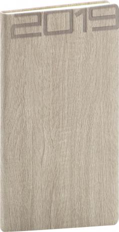 Kapesní diář Forest 2019, krémový, 9 x 15,5 cm