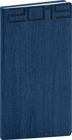 Kapesní diář Forest 2019, modrý, 9 x 15,5 cm