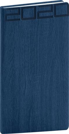 Kapesní diář Forest 2020, modrý, 9 × 15,5 cm