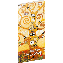 Pocket diary Gustav Klimt planning monthly 2020, 8 × 18 cm
