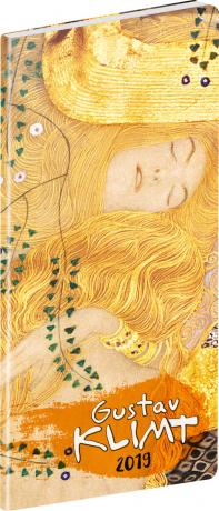 Kapesní diář Gustav Klimt SK 2019, plánovací měsíční, 8 x 18 cm