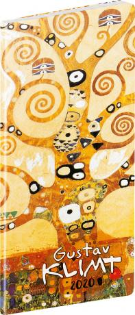 Kapesní diář Gustav Klimt SK 2020, plánovací měsíční, 8 × 18 cm