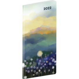 Kapesní diář Krajina 2022, plánovací měsíční, 8 × 18 cm
