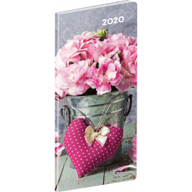 Pocket diary Flowers SK planning monthly 2020, 8 × 18 cm