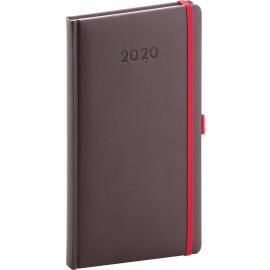 Pocket diary Luzern brown 2020, 9 × 15,5 cm