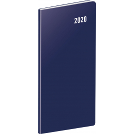 Pocket diary Blue planning monthly 2020, 8 × 18 cm