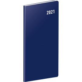 Pocket diary Blue, planning monthly 2021, 8 × 18 cm