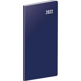 Kapesní diář Modrý 2022, plánovací měsíční, 8 × 18 cm