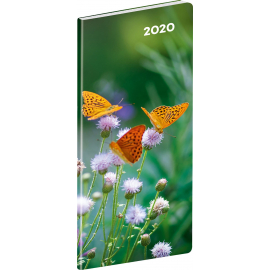 Pocket diary Butterflies planning monthly 2020, 8 × 18 cm