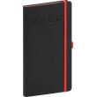Pocket diary Nox black-red 2020, 9 × 15,5 cm