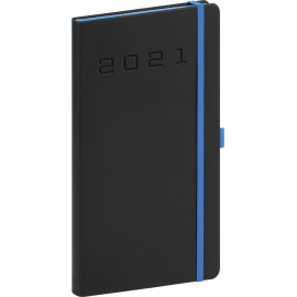 Pocket diary Nox black-blue 2021, 9 × 15,5 cm