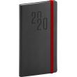 Kapesní diář Soft 2020, černý, 9 × 15,5 cm
