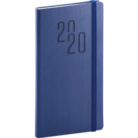 Pocket diary Soft blue-blue 2020, 9 × 15,5 cm