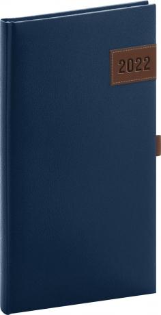 Kapesní diář Tarbes 2022, modrý, 9 × 15,5 cm