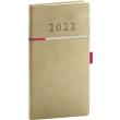 Kapesní diář Tomy 2022, béžovorůžový, 9 × 15,5 cm
