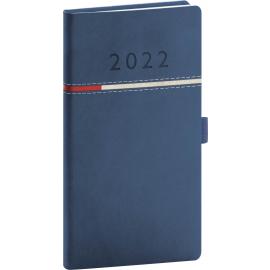 Kapesní diář Tomy 2022, modročervený, 9 × 15,5 cm