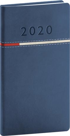 Kapesní diář Tomy modročervený 2020 9 x 15,5 cm