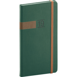 Pocket diary Twill green-bronze 2019, 9 x 15,5 cm